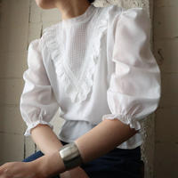 1960's EURO Puff Sleeve Blouse WH
