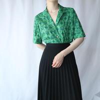 60's Open Collar  Pattern Blouse GR