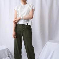 60's EURO Dot ×Square Embroidery Blouse WH