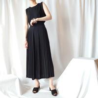 Pleated Long Skirt BK