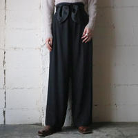 Ribbon Belt Wide Pants BK