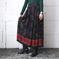 Check × Paisley Pattern Skirt NVRD