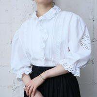 Tyrolean Cutwork Lace Blouse WH