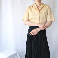 60's EURO Embroidery Open Collar Blouse YE