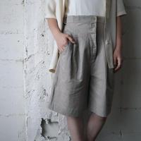 Side Belt Design Short Pants BE