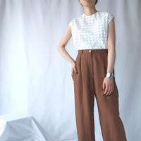 60's EURO Cutwork Lace Sleeveless Blouse WH