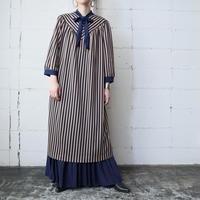 Stripe Boe Collar Dress NVBE