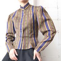 KENZO Stand Collar Stripe Blouse KABL