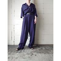Open Collar Rayon Jumpsuit NV