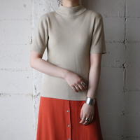 s/s Mock Neck Rib Knit BE