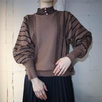 Mock Neck Stripe Sweater BR