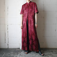 Shadow Flower Pattern Long Robe RE