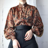 Stand Collar Paisley Blouse BR