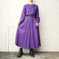 Flared Skirt Rayon Dress PUR