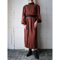 Stand Collar Paisley Dress BRRE