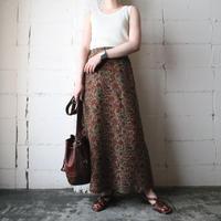 Flower Pattern Silk Skirt BRRE