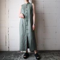 Sleeveless China Linen Dress KA