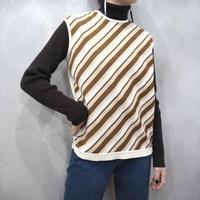 Stripe Pattern Vest IVBR