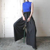 Weist Ribbon Wide Pants BK