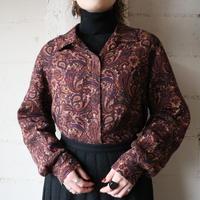 Paisley Open Collar Blouse BUR