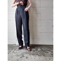 Linen Tuck Pants BK