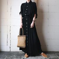 Pleated Shirt Dress BK
