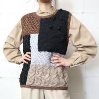 Patch Work Knit Vest BKBRGR