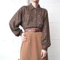 Arabesque Pattern Rayon Shirt NVBR