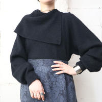 Asymmetric Collar Sweater BK