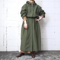 Drawstring Hooded Long Coat KAYE