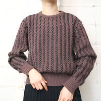 Stripe Crew Neck Sweater BRBK