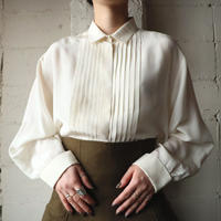 Pleated Front Silk Blouse IV