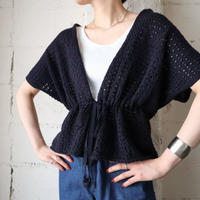 Crochet French Sleeve Knit Vest BK