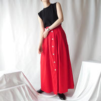 Front Button Tuck Skirt RE