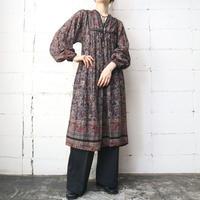 60~70's Vintage Indian Cotton Dress BK BUR
