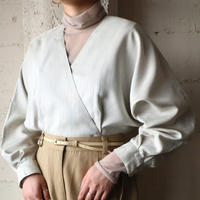 Stripe Double breasted Blouse LBL