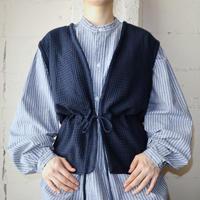 Drawstring Knit Vest NV
