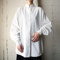 Stand Collar Cotton Shirt WH