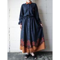 Paisley & Flower Pattern Dress NVOR