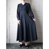 Fit&Flared Collarless Dress BK