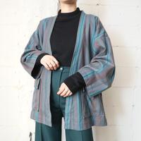 Stripe Collarless Jacket GRBR