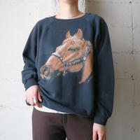 Horse Print Sweat BK