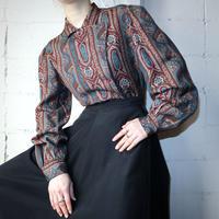 Vintage Paisley Pattern Blouse BUR