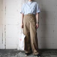Band Collar Stripe Shirt BLYE