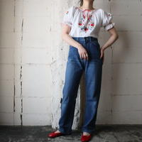 1970's EURO Embroidery Blouse WH