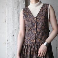Paisley Pattern Sleeveless Dress BRNV
