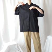Double Collar Big Rayon Shirt BK