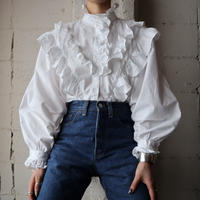 Frilled Stand Collar Blouse WH