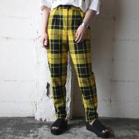 Check Tucked Pants YE