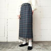 Check Long Tight Skirt GRKARE